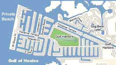 gulf harbors fl waterfront map