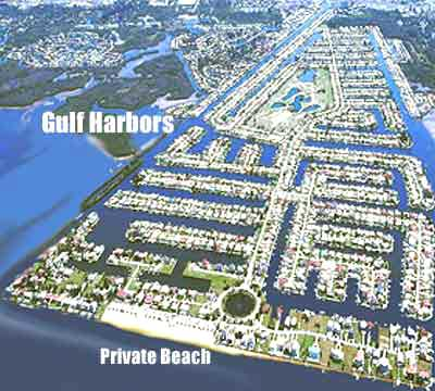 florida waterfront homes aerial map